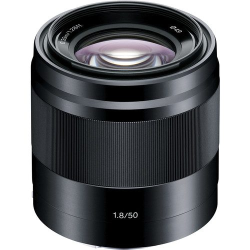 Sony E 50mm f/1.8 OSS Lens (Black & Silver)