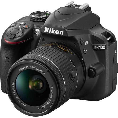 Nikon D3400 DSLR Camera with AF-P 18-55mm Lens (Black)