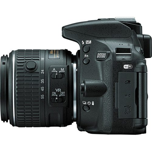 Nikon D5500 DSLR Camera with AF-P 18-55mm Lens (Black)