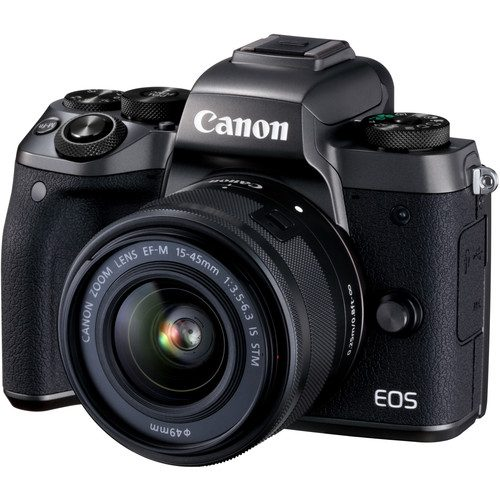 Canon EOS M5 Mirrorless Digital Camera with EF-M 15-45mm f/3.5-6.3 IS STM Lens