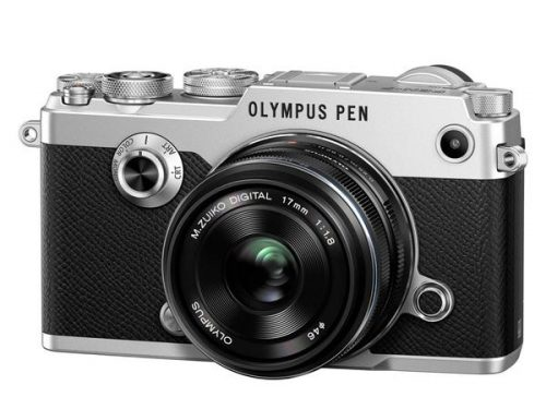 OLYMPUS PEN F with M.ZUIKO 17MM F/1.8 (Black & Silver)