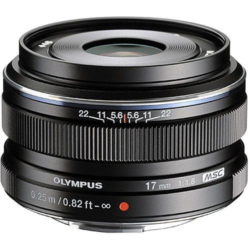 Olympus M.ZUIKO Digital 17mm f/1.8 Lens (Black & Silver)
