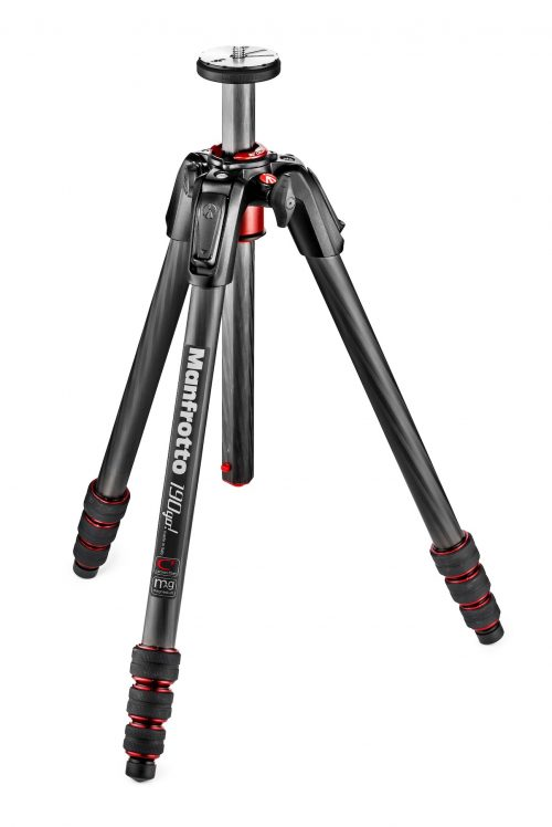 Manfrotto MT190 Carbon Fiber 4 Section Tripod with Twist Locks Black