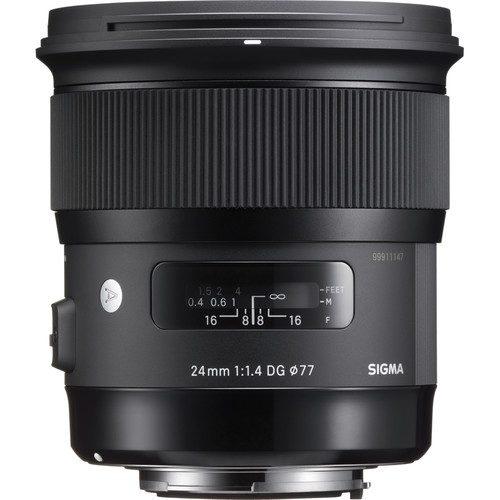 Sigma 24mm f/1.4 DG HSM Art Lens for (Canon, Nikon, Sony A, SA)
