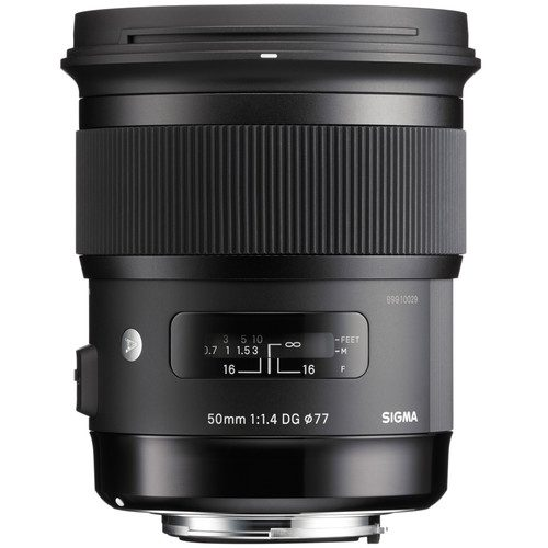 Sigma 50mm f/1.4 DG HSM Art Lens for (Canon, Nikon, Sony A, SA, FE)