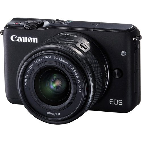 Canon EOS M10 with 15-45mm Lens (Black & White)