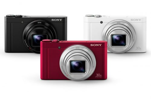 Sony Cyber-shot DSC-WX500 Digital Camera (Black, Red, White)