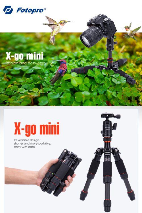 Fotopro X-GO Mini Metal + Carbon Fiber Mini Tripod