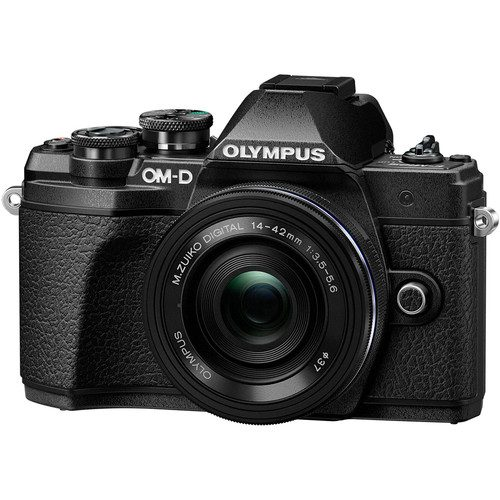 Olympus OM-D E-M10 Mark III Mirrorless Camera with 14-42mm EZ Lens (Black & Silver)