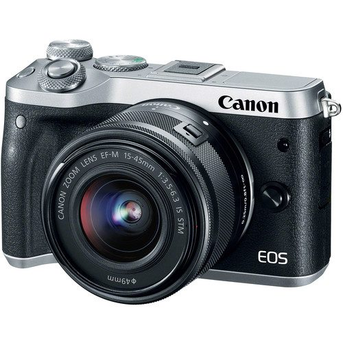 Canon EOS M6 Mirrorless Digital Camera with 15-45mm Lens (Black & Silver)