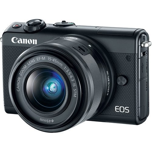 Canon EOS M100 with 15-45mm Lens (Black) FREE 32GB + CAMERA BAG