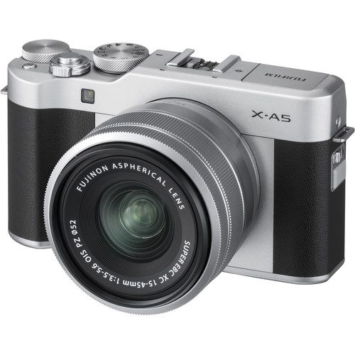 Fujifilm X-A5 Mirrorless Digital Camera with 15-45mm Lens [FREE 64GB SD CARD]