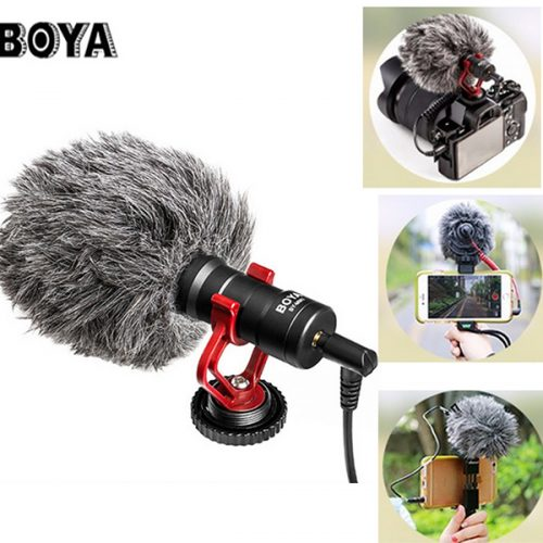 BOYA BY-MM1 Stereo Audio Recording MIC Microphone for Living Camera Camcorder DSLR