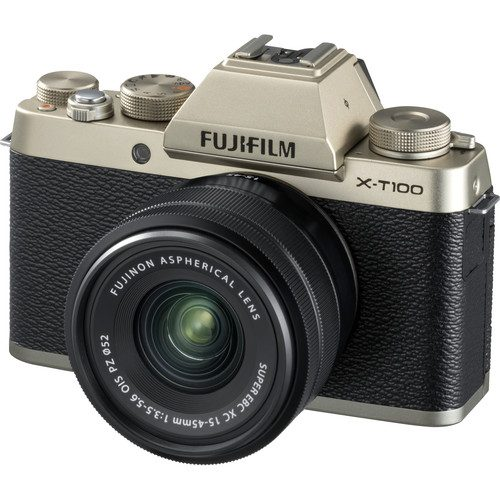 Fujifilm X-T100 Mirrorless Digital Camera with 15-45mm Lens [FREE 64GB SD CARD]
