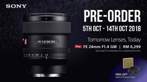 [PRE-ORDER] Sony FE 24mm f/1.4 GM Lens DEPOSIT RM500