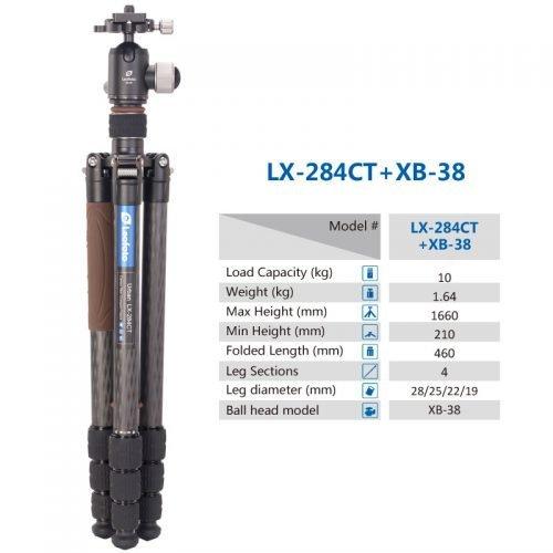 LX-284CT Tripod +XB-38 Ball Head