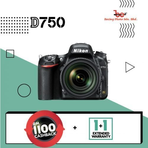 Nikon D750 DSLR Camera with 24-120mm Lens FREE 64GB SD CARD + CAMERA BAG