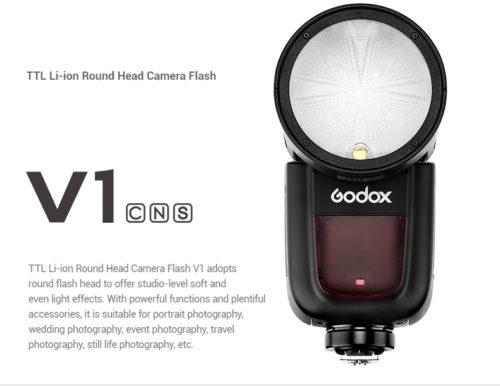 GODOX V1 TTL Li-ion Round Head Camera Flash (Canon , Nikon)