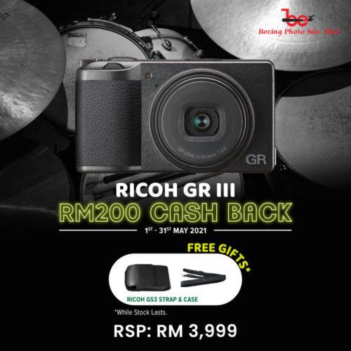 Ricoh GR III Digital Camera (FREE 32GB SD CARD + CAMERA CASE)