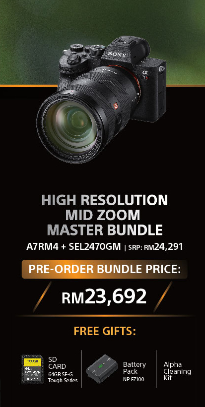 [PRE-ORDER] Sony Alpha a7R M4 with 24-70mm f/2.8 Lens Kit (DEPOSIT RM500)