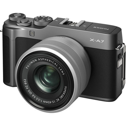 FUJIFILM X-A7 with 15-45mm Lens (FREE GIFT 32GB SD CARD) (SILVER , DARK SILVER , CAMEL)