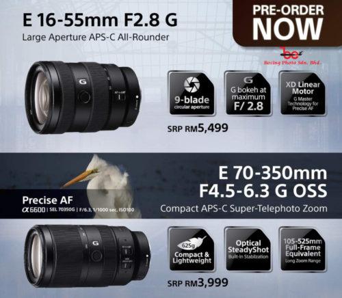 [PRE-ORDER] Sony E 16-55mm f/2.8 G Lens (DEPOSIT RM500)