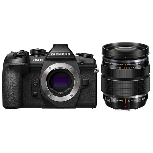 Olympus OM-D E-M1 Mark II with 12-40mm f/2.8 Lens Kit (Black)