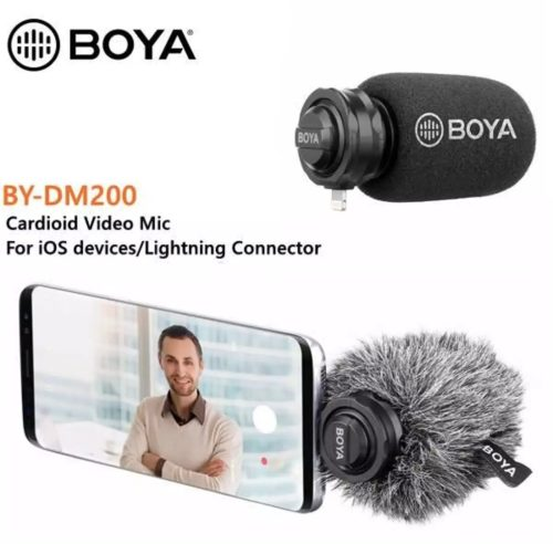 BOYA BY-DM200 MICROPHONE FOR iOS DEVICE/LIGHTNING CONNECTOR