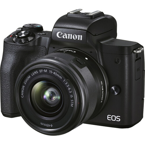 Canon EOS M50 Mark II with 15-45mm Lens PACKAGE (32GB SD CARD, CAMERA BAG)