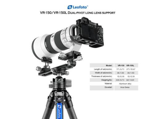 LEOFOTO VR-150/VR-150L TELEPHOTO LENS SUPPORT