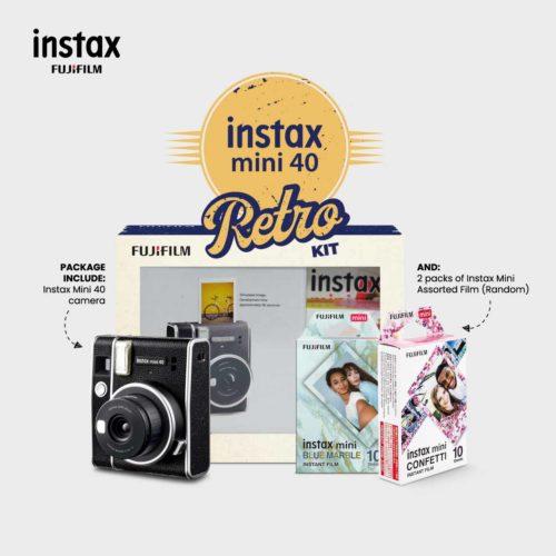 FUJIFILM INSTAX Mini 40 Package (Free 20sheet Mini Assorted Film)